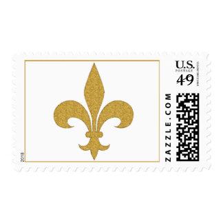 Gold Fleur-de-Lis Stamps