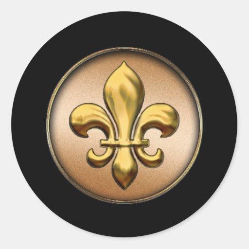 Gold Fleur De Lis Sticker Zazzle