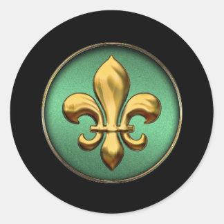 Gold Fleur de Lis Sticker