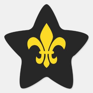 Gold Fleur de Lis Star Sticker