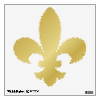 Gold Fleur De Lis Wall Sticker