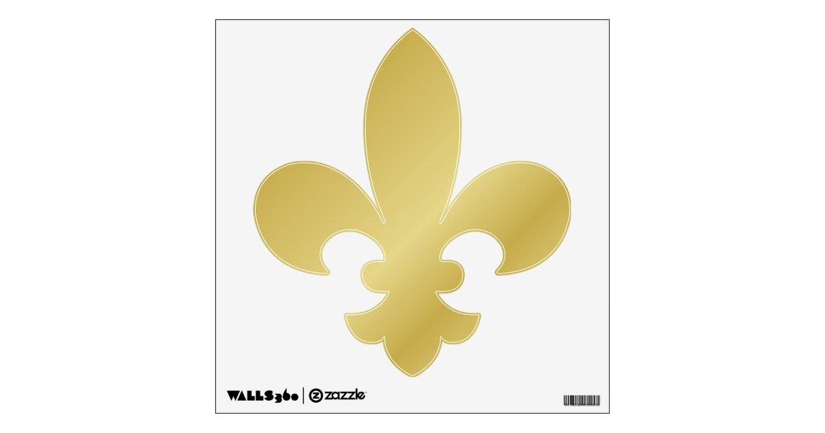 Gold Fleur De Lis Wall Sticker Zazzle