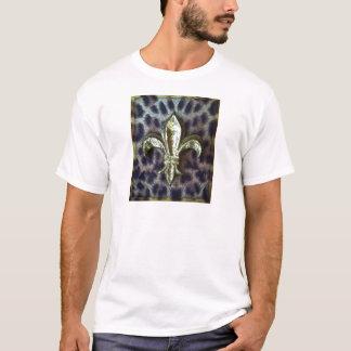 GOLD FLEUR-DE-LIS WITH LEOPARD FRAME T-Shirt