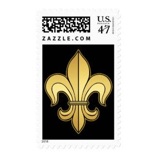 Gold Fleur de lis XXX Dat Postage Stamp