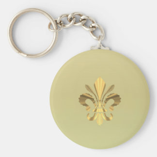 Gold fleur de lys keychain