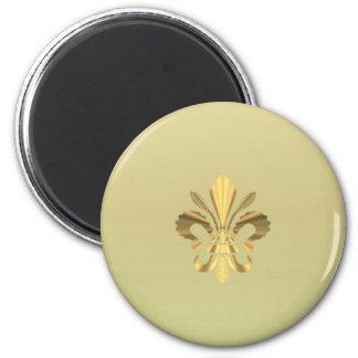 Gold fleur de lys magnet
