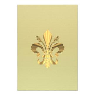 Gold fleur de lys personalized invitations