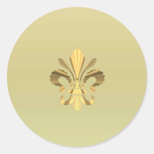 Gold fleur de lys sticker