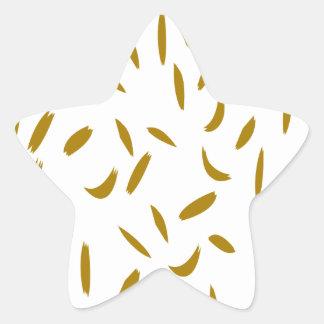 Gold Flex Star Sticker