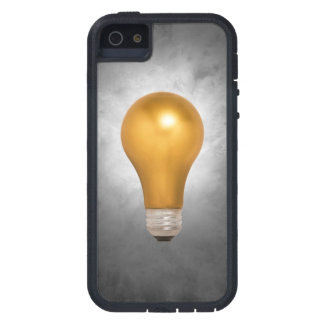 Gold Floating Light Bulb iPhone 5/5S Case