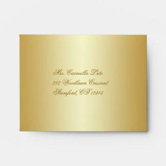Gold Floral A2 Envelope for RSVP Card