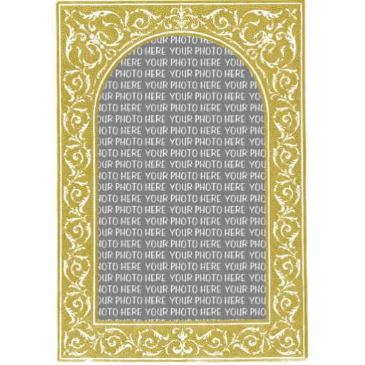 Gold Floral Arch Custom Photo Frame Statuette