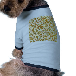 Gold,floral,elegant,on white,pattern,chic,trendy pet tee
