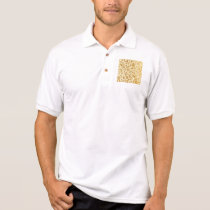Gold,floral,elegant,on white,pattern,chic,trendy polo shirt