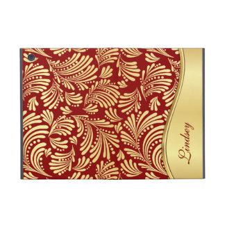 Gold Floral Folio iPad Mini Case
