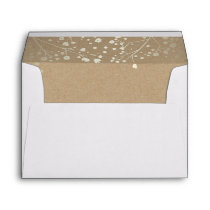 Gold Floral Kraft Vintage Garden Wedding Envelope