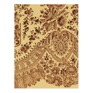 Gold Floral Lace Postcards