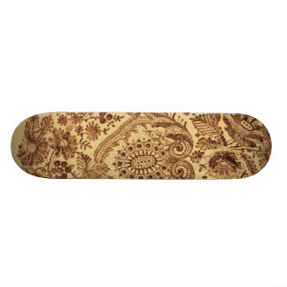 Gold Floral Lace Skate Board