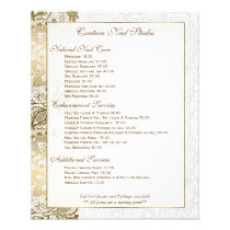 Gold Floral Lace With White Background Flyer