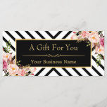 """Gold Floral Makeup Hair Salon Gift Certificate<br><div class=""""desc"""">================= ABOUT THIS DESIGN ================= Gold Floral Makeup Hair Salon Gift Certificate Card. (1) All text style, colors, sizes can also be modified to fit your needs. (2) If you need any customization or matching items, please contact me. (3) You can find matching products (e.g. Business Card, Appointment Card, Flyer,...</div>"""