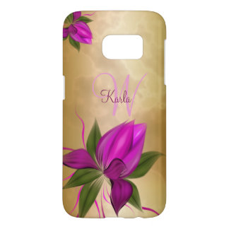 Gold Floral Marble Samsung Galaxy S7 Case
