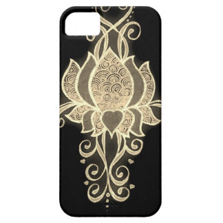 gold floral mehndi iPhone 5 covers