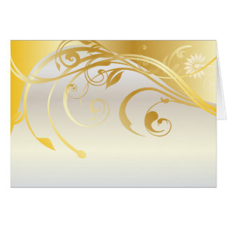 Gold floral ornaments card