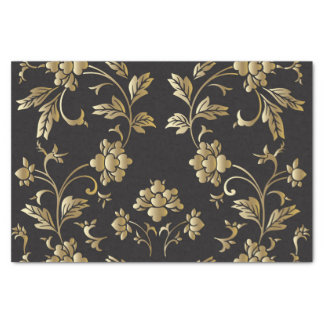 Gold floral pattern,art nouveau,vintage,chic,paris tissue paper