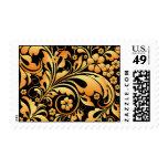 gold floral pattern stamp