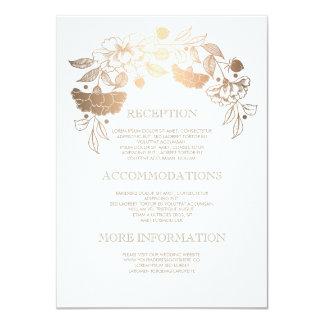 Gold Floral Wedding Details - Information Card