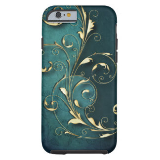 Gold Florentine Scrolls Tough iPhone 6 Case