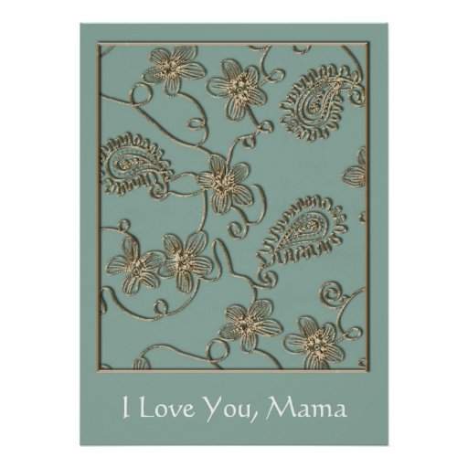 Gold Flourish Mother's Day Poster