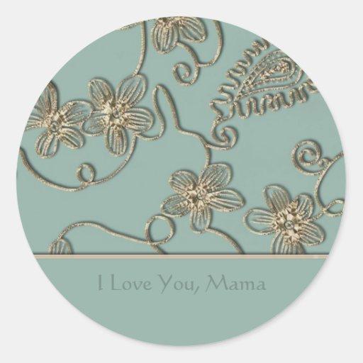 Gold Flourish Mother's Day Sticker