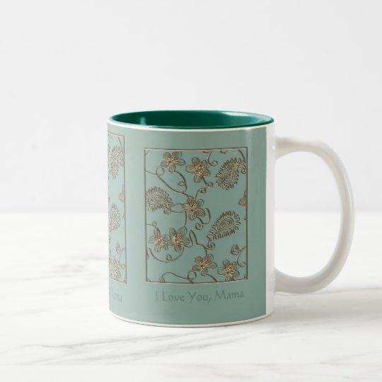Gold Flourish Mother's Day Two-Tone Coffee Mug