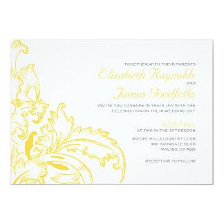 Gold Flourish Wedding Invitations