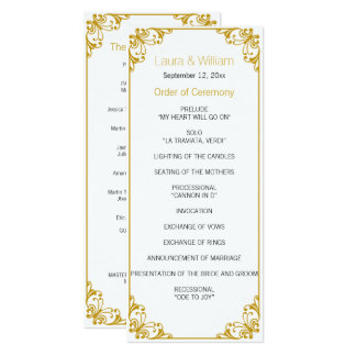 Gold Flourish Wedding Program