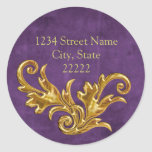 Gold Flourishes Return Address Envelope Seal Stickers