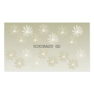 GOLD FLOWER 名刺テンプレート