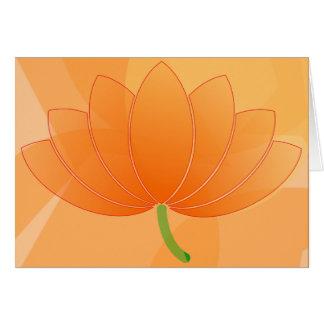 Gold Flower Blank Card