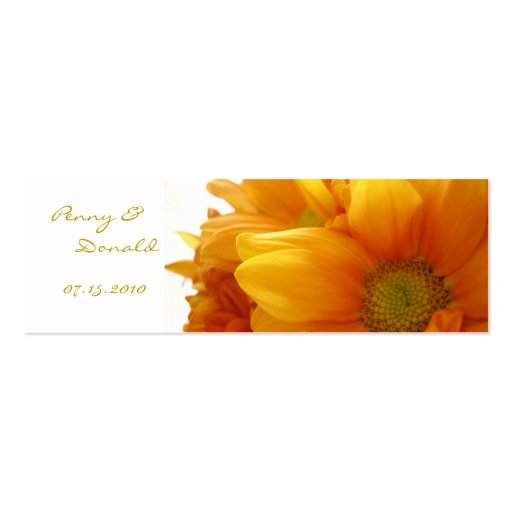 Gold Flower Bookmark - Customized Business Card Template
