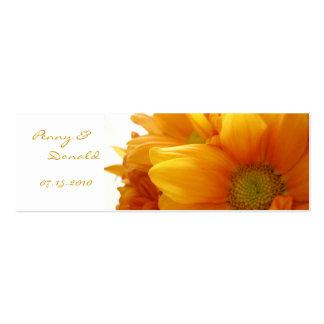 Gold Flower Bookmark - Customized Mini Business Card