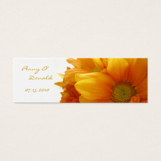 Gold Flower Bookmark - Customized Mini Business Card