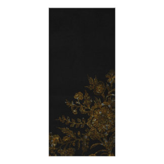 Gold Flower on Black Background Rack Card Design