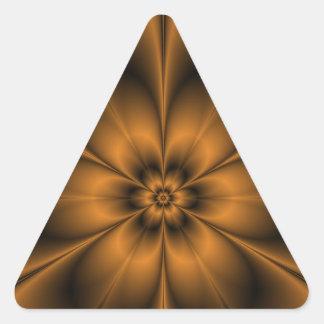 Gold Flower Triangle Sticker