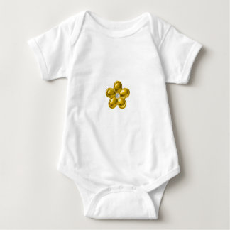 GOLD FLOWER WITH DIAMOND BABY BODYSUIT