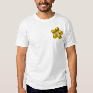 Gold flower with diamond shirt