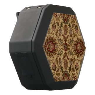 Gold Flowers Arabesque oriental tapastery Black Bluetooth Speaker