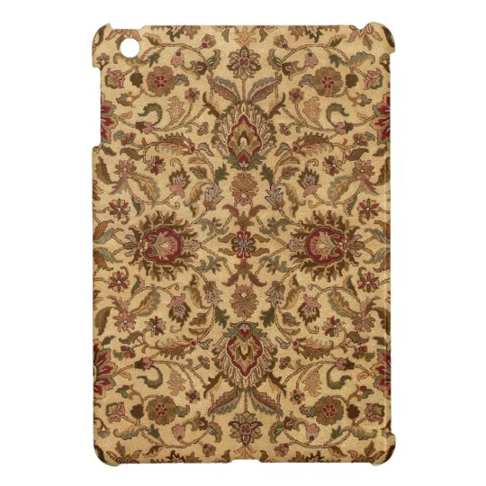 Gold Flowers Arabesque oriental tapastery Cover For The iPad Mini