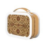 Gold Flowers Arabesque oriental tapastery Lunch Boxes