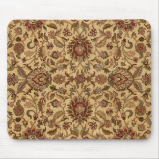 Gold Flowers Arabesque oriental tapastery Mousepads